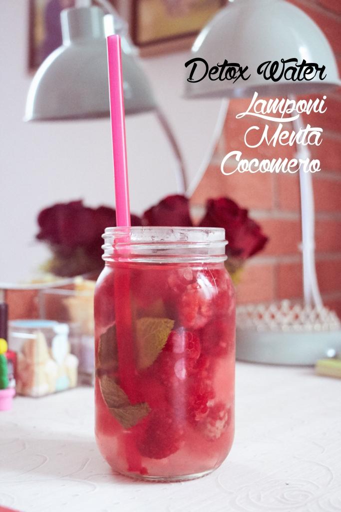 detox water cocomero lamponi menta
