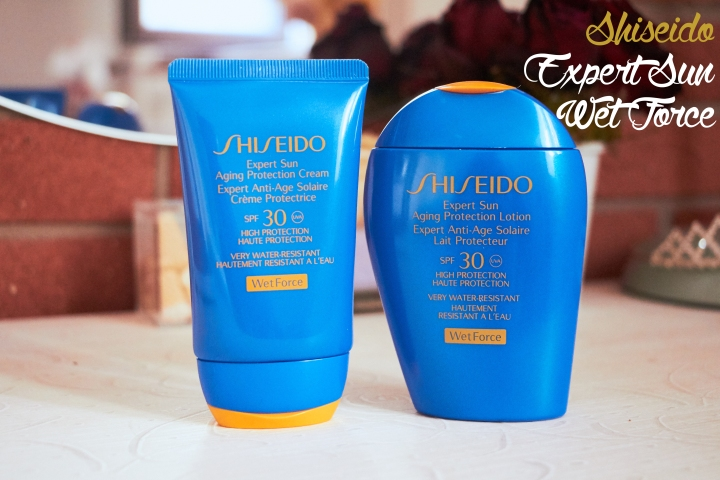 shiseido expert sun wetforce line