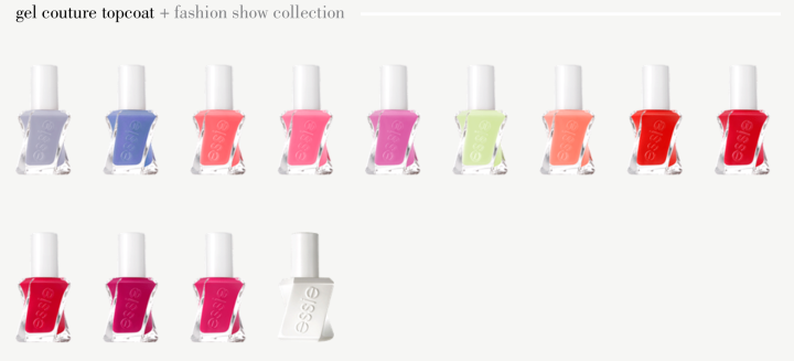 essie gel couture fashion collection brights