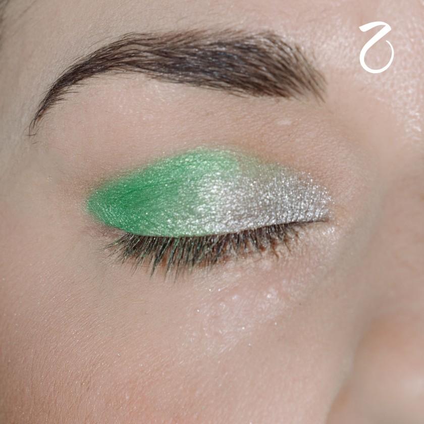 make up tutorial green 2