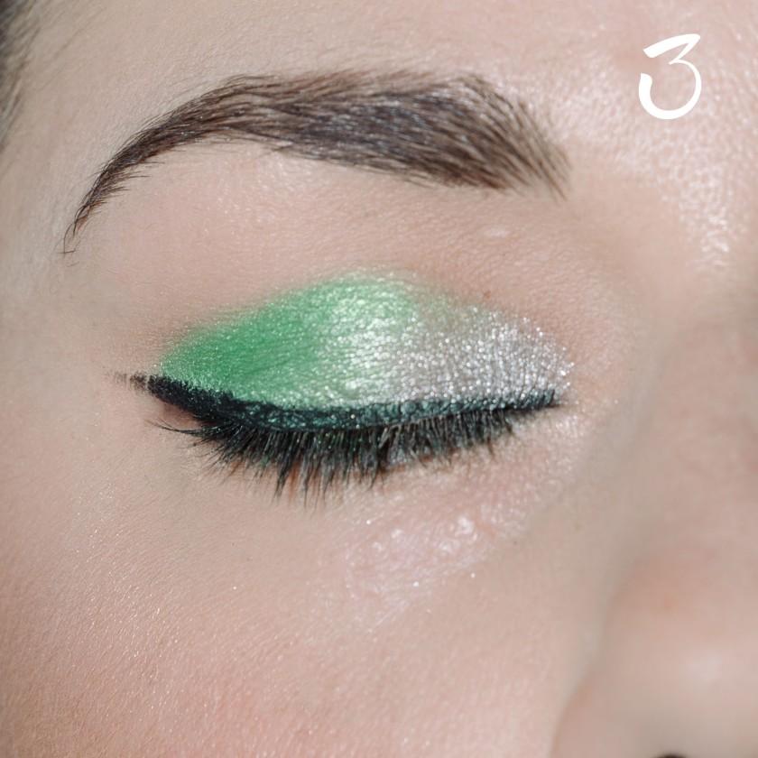make up tutorial green 3