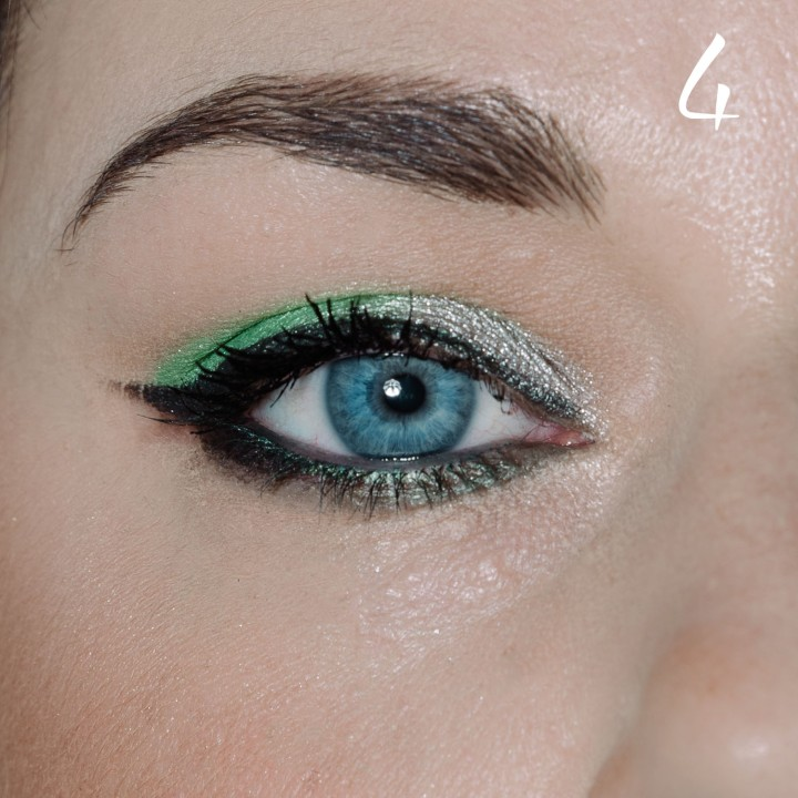 make up tutorial green 4