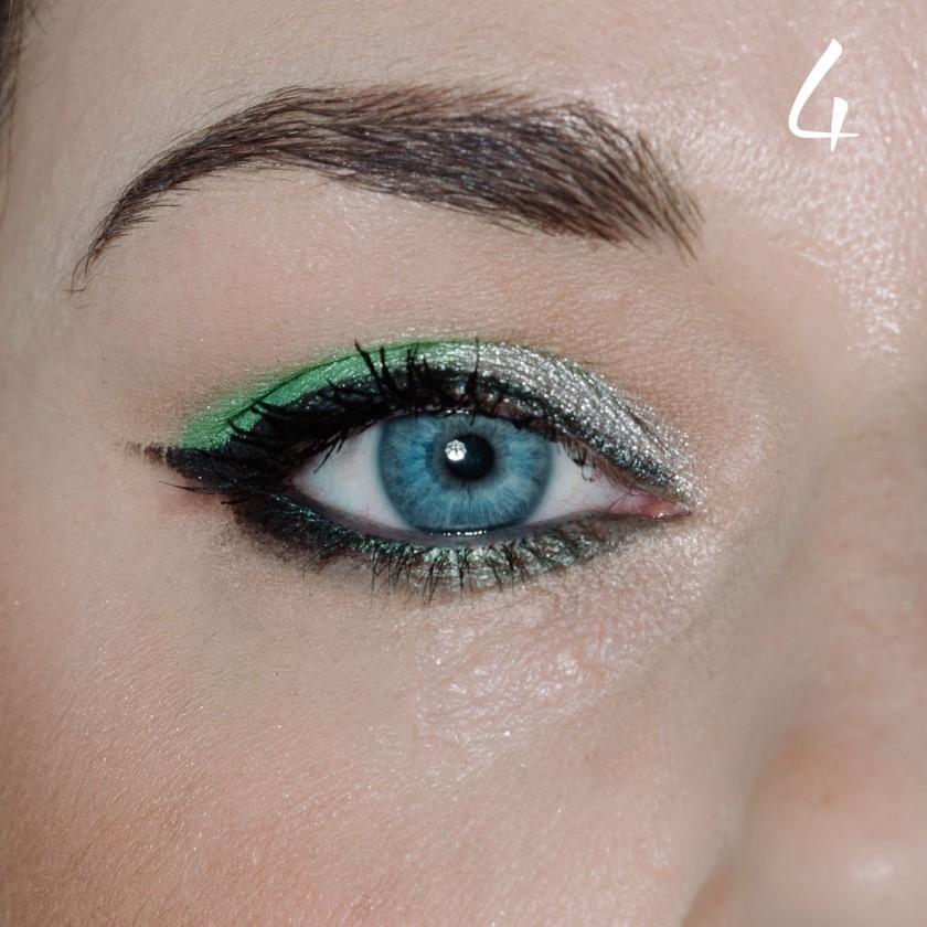 make up tutorial green 4