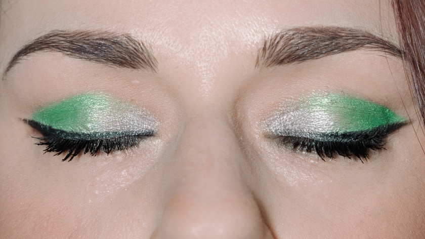 make up tutorial green 5